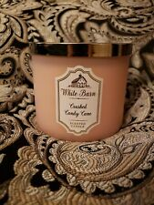 Bath and Body Works 14.5 oz White Barn CRUSHED CANDY CANE 3-Wick Candle
