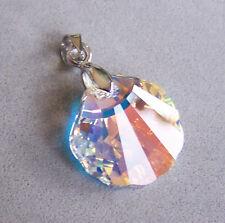 Anhänger Swarovski® Kristall Muschel 16mm Crystal Aurora Boreale