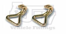 2 Steel Wire Claw Hook 50mm 3 Ton Webbing Ratchet Strap Truck Trailer Recovery