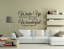 Wake up every morning wonderful is happen Wall Quotes Wall Stickers UK 32h