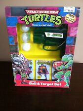 Vintage TMNT Teenage Mutant Ninja Turtles Ball & Target Set Rare 1989 Playmates
