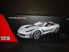 Maisto Chevrolet Corvette C7 Stingray Z51 2014 Silver 1/18 Exclusive Edition