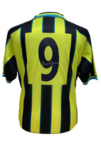 PAUL DICKOV SIGNED MANCHESTER CITY 1999 PLAYOFF FINAL  #9 SHIRT COA PROOF MCFC