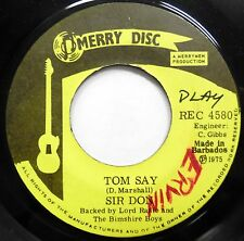 SIR DON 45 Tom Say / Women's Lib MERRY DISC Barbados Press CALYPSO #A381