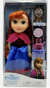 Genuine Disney Frozen Princess Anna Doll Tea For Two With Sven Christmas Gift 3+