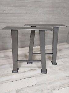 Powder Coated Metal Nightstand Legs w/shelf bracket