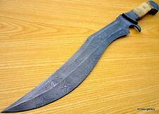 Cuchillo Machete Personalizado De Caza De Acero Damasco/Espada/Classic Hunter/Camel Bone