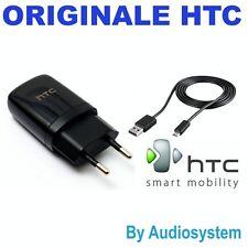 CARICA BATTERIE ORIGINALE HTC 100% +CAVO USB MICRO PER ONE E8 E9 M8S M9+ CAVETTO