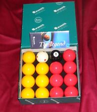 "ARAMITH PREMIER TOURNAMENT 2"" RED & YELLOW POOL BALLS PRO CUP ADDITION BRAND NEW"