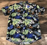 Disney Pixar A Bugs Life: Men's SMALL Button Front Hawaiian WOVEN SHIRT NWT RARE