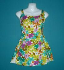 NWOT Vtg 60's Cole Of California MOD Floral Cotton Swimsuit Romper Pin Up Playsu