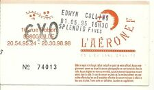 RARE / TICKET BILLET DE CONCERT - EDWYN COLLINS : LIVE A LILLE ( FRANCE ) 1995