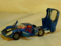 Vintage Dinky Toys 210 Alfa Romeo 33 Tipo Le Mans Racing Blue Diecast Car Toy