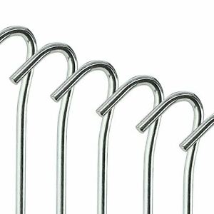 "9"" HEAVY DUTY TENT PEGS STEEL METAL GROUND STAKES CAMPING GAZEBO TARPAULIN HOOKS"