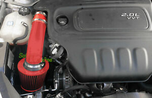 All RED COATED Air Intake Kit For 2013-2016 Dodge Dart 2.0 L4  Rally SE SXT