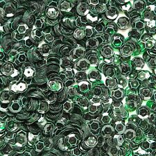 6mm Cup Sequins Deep Green Transparent See-Thru. Made in USA
