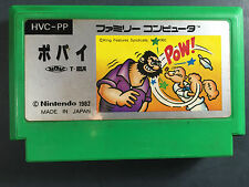 Popeye Nintendo Famicom FC/NES Japan Import Picture label Rare US Seller