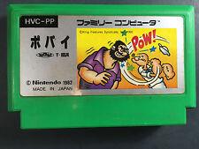 Popeye Nintendo Famicom FC/NES Japan Import Picture label Rare US Seller