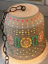 Vintage Lawnwear Hanging Lamp Rv Multicolored Lights Free Shipping
