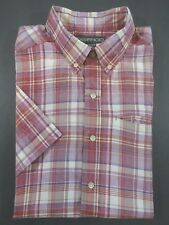 Exofficio Shirt SIZE MEDIUM Mens Red/White Plaid Button-Front