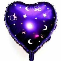 Helium Foil Balloon Disney Mickey Minnie Mouse Purple Moon XL Heart Baby Shower