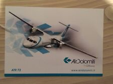 Air Dolomiti Lufthansa Italia Italy ATR 72 Turboprop Postcard Postkarte TOP