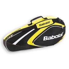 Babolat Clubline 3 Racchetta tennis Borsa Giallo, anche per viaggi o Padel