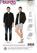 """Mens Classic Blousan Jacket Coat Stand Collar Size: 36-46"""" Sewing Pattern"""