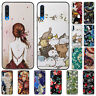 For Samsung Galaxy A10 A30 A50 Case Retro Painted Slim Soft Silicone TPU Cover