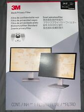 "3M Widescreen Black Privacy Filter 24""- (PF240W9B) Laptop Monitor (16:9) NEW"
