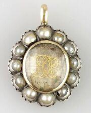 Stuart crystal mourning pendant. English, 17th century. Enamel Hair Georgian OLD