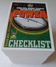 2005 Select NRL Power Complete Full 181 Card Base Common Set