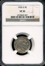 1926-S Buffalo Nickel NGC VF35