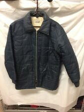 Spare Time Collection Vintage Mens Blue Sherpa Lined Winter Coat Sz M