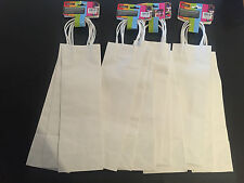 12x Paper Bottle Bags Wine Bag Gift Wrapping White Paper Bag Craft Bag Gift Bulk