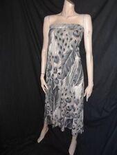Size 6 *WAREHOUSE* Stunning long blue mix jersey maxi dress