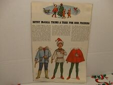 Vintage Betsy McCall Trims A Tree For Her Friends Paper Doll Page 1979 Uncut