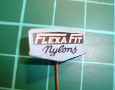 Flexa Fit stockings nylons  - stick pin badge vtg 60's panty speldje