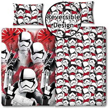 STAR WARS THE LAST JEDI SINGLE DUVET COVER EPISODE VIII TROOPER BEDDING NEW GIFT