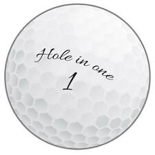"""Golf Ball Hole in One Cutout 10"""" Golf Birthday Party Decorations Supplies"""