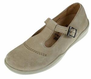 Footprints By Birkenstocks Women's Casablanca Mary Jane Shoes, Suede Beige