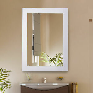 kleankin Elegant Home Mirror Bedroom Bathroom Make-Up Dressing Mirror White