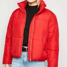 New Look Red Boxy Puffer Jacket Size M