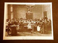 Milano nel 1902 Orfanotrofio femminile Le stelline Corso Magenta Officina cucito