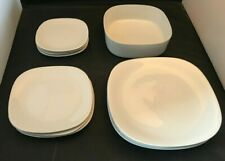Set of Block Langenthal Switzerland Transition Plates Bowl White