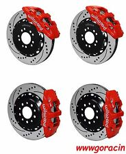 "Wilwood Brake Kit fits 2014-2016 Corvette,15""/14"" Drilled Rotors,Red Calipers"