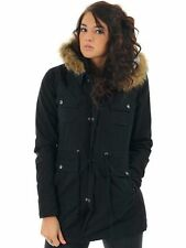 NEW* VOLCOM L PARKA Hoody COAT SHIRT JACKET TOP $120 Retail Trip Military BLACK