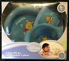 Disney Baby Huggable Winnie The Pooh Feeding Gift  Set Plate Bowl Tumbler Cup
