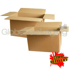 "10 LARGE REMOVAL STORAGE CARDBOARD BOXES 22x14x14"" FOR MOVING PACKING - 24HR DEL"