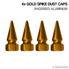 4x Gold Spike Car Bike Motorcycle BMX Wheel Tyre Valve Aluminium Dust Caps